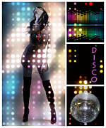 Disco Digital Art - Dance series - Disco by Linda Lees