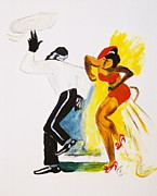 African Dance Mixed Media Posters - Dance Series- Lindy Hop Poster by JackieO Kelley