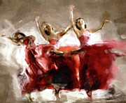 Abstract Expressionism Mixed Media - Dance The Hours Away by Zeana Romanovna