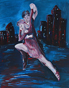 City Street Paintings - Dance The Night Away by Donna Blackhall