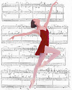 Ballet Dancer Framed Prints - Dance to the Music Framed Print by Stefan Kuhn