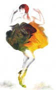 Dancing Girl Drawings Prints - Dance with me Print by Stefan Kuhn
