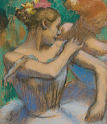 Dancer Adjusting Her Shoulder Print by Edgar Degas
