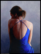 Evening Dress Paintings - Dancer at Rest by Diana Moses Botkin