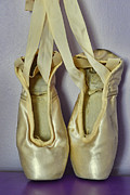 Dance Shoes Posters - Dancer - Ballet Pointe Shoes Poster by Paul Ward