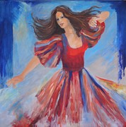 Dancing Girl Paintings - Dancer by Dagmar Helbig