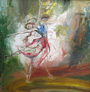 Skylight Paintings - Dancer I by Laura Pommier