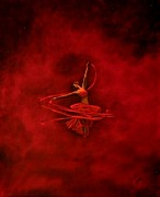 Lisbeth M Sandvik - Dancer in red