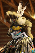 Powwow Framed Prints - Dancer Framed Print by Larysa Luciw