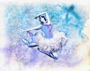 Grace Framed Prints - Dancer Framed Print by Mo T