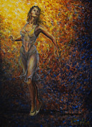 On Stage Paintings - Dancer  by Nik Helbig