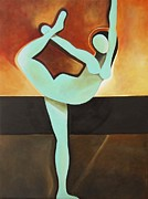 Yoga Pose Paintings - Dancer Of Light by Teres Lillian