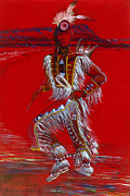 Grande Paintings - Dancer on the Grande Ronde by Thelissa RedHawk