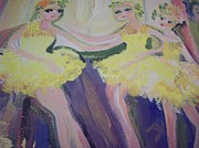 Ballet Dancers Paintings - Dancers at rest by Judith Desrosiers