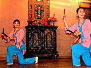 Binh Posters - Dancers at Wedding Ceremony Show in Binh Quoi Village-Vietnam Poster by Ruth Hager