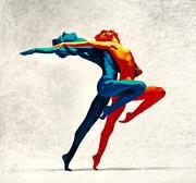 Dancers Print by Elizabeth Tsarai