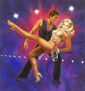 Ballroom Paintings - Dancers Fantasy by Dick Bobnick