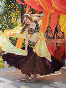 Southwestern Print Framed Prints - Dancers Framed Print by Gary Kim