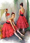 Serguei Zlenko - Dancers in red
