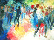 Crowd Scene Art - Dancers in the Park by Amalya Nane Tumanian
