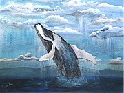 Whale Mixed Media - Dancin In The Rain by K J Gordon