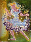 Dancing Girl Paintings - Dancing 1 by Marilyn Jacobson