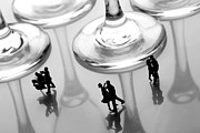 Dresses Metal Prints - Dancing among glass cups Metal Print by Paul Ge