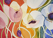 Anemones Paintings - Dancing Anemones by Shirin Shahram Badie