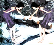 Dance Mixed Media - Dancing Barefoot In The Snow  by Patrick J Murphy