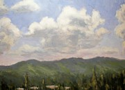 Great Outdoors Paintings - Dancing Clouds by Robert Stump