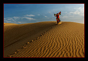 Sand Dunes Photo Originals - Dancing Dunes by Mukesh Srivastava