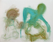 Figurative Paintings - Dancing by Edgeworth Johnstone