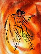 Dancing Fire Iv Print by Irina Sztukowski