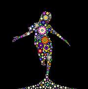 Dancing Flower Girl  Print by Tim Gainey