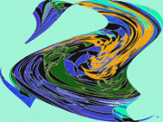 Vivacious Digital Art - Dancing Goose by Will Borden