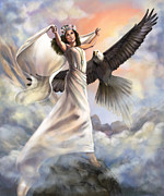 Biblical Art Posters - Dancing in Glory Poster by Cindy Elsharouni