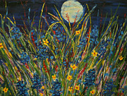 Kathleen Prints - Dancing In The Moonlight Print by Kathleen Peltomaa Lewis