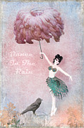 Coping Posters - Dancing in the Rain Poster by Terry Fleckney