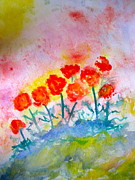 Perennials Painting Posters - Dancing In The Sun Poster by Marita McVeigh