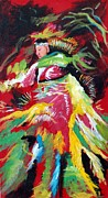Contemporary Tribal Art Painting Originals - Dancing Indian by Judy Hopkins