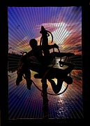 Saint Jean Art Gallery Posters - Dancing into the Sunset Poster by Barbara St Jean