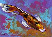 Koi Painting Posters - Dancing Koi  Poster by Eve  Wheeler