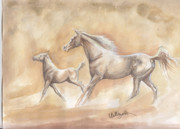 Colts Paintings - Dancing Lessons by Callie Smith