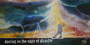 Storm Clouds Paintings - Dancing on the Edge of Disaster by Shirley Meyer
