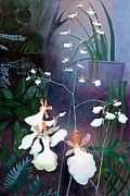 Alluring Painting Originals - Dancing Orchids by Ruben Carrillo