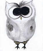 Western.love Painting Prints - Dancing Owl 1 Print by Julie Sutherland
