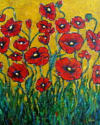 Vickie Fears Prints - Dancing Poppies Print by Vickie Fears
