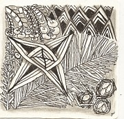 Star Drawings Framed Prints - Dancing Star Framed Print by Jennifer Woodworth