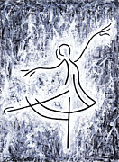 Ballet Dancers Paintings - Dancing Swan by Kamil Swiatek