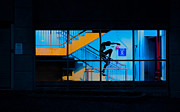 Windows Art - Dancing To Floor G Night People by Bob Orsillo